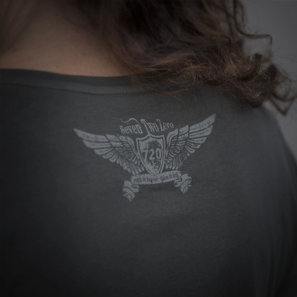 720gear back logo on t-shirt